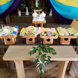 七夕神社へ短冊34152枚を奉納して参りました。
